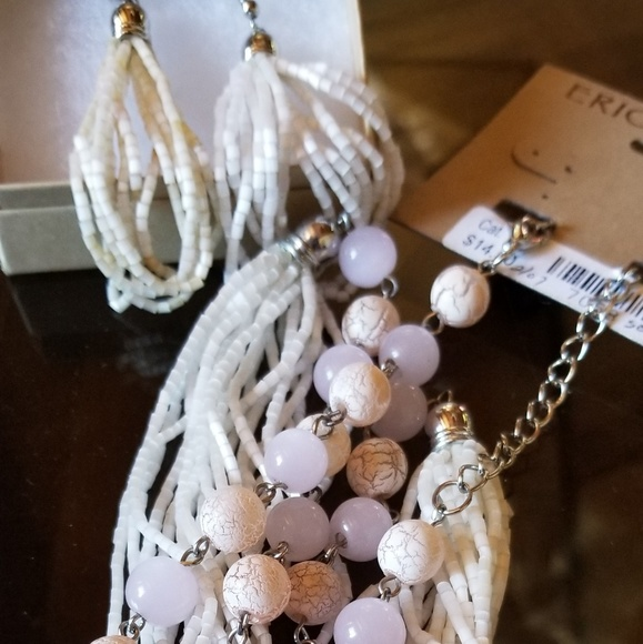 Erica Lyons Jewelry - Pink beaded necklace and earrings